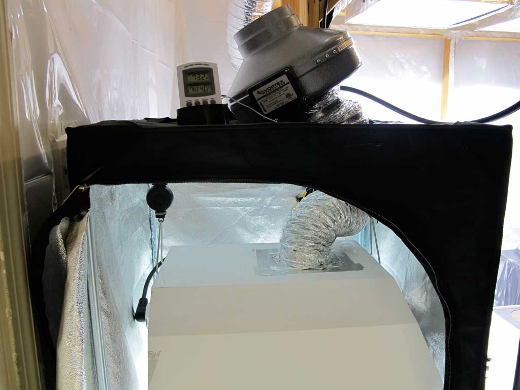 Ecoplus Axial Fans : W led v hid side by in dr tents indoor