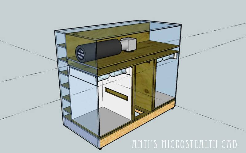 Anti 39 s microstealth cab design dr bud method growroom for Grow room design plans