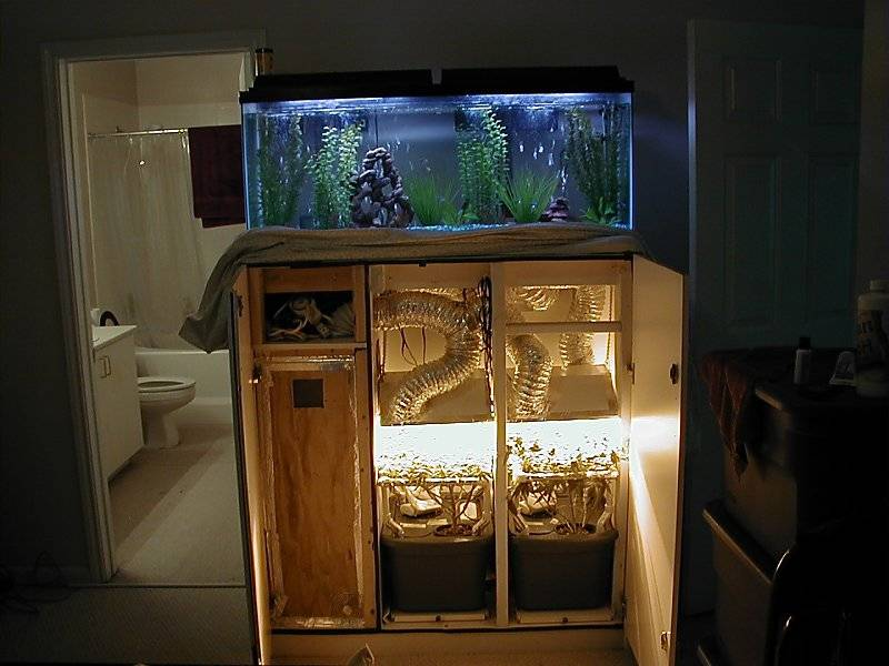Very Stealth Fishtank Wardrobe Cabinet Growroom